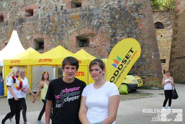 Public Viewing Festung Ehrenbreitstein & Auto Korso