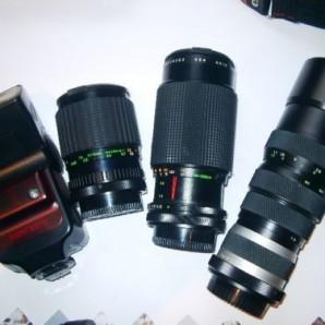 Analoge Kameraausrüstung