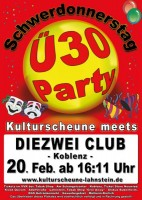 "Ü-30 Party am Schwerdonnerstag ""Das Original"""