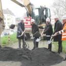 Hochwasserschutz für Lützel, Neuendorf und Wallersheim - Spatenstich Los 8: Ertüchtigung des Deiches und Sanierung des Pumpwerks an der Bleiche